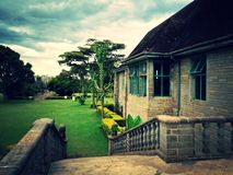 Vintage tone of Lord Egerton Castle, Nakuru, Kenya. Lord Egerton Castle is a historical building located in Nakuru, Rift Valley, Kenya stock image