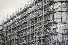 Vintage tone Underconstruction building Royalty Free Stock Photos
