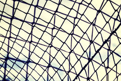 Vintage toned close up picture of nets Stock Images