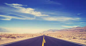Vintage toned endless country highway. Stock Images