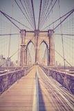 Vintage toned photo of Brooklyn Bridge. Stock Photo