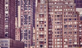 Vintage toned picture of old Manhattan buildings, NYC. Vintage toned picture of old Manhattan buildings, New York City, USA Stock Photo