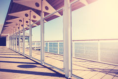 Vintage toned picture of veranda by the sea Royalty Free Stock Photography