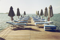 Vintage toned pier stock photography