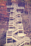 Vintage toned stairs in autumn. Royalty Free Stock Photography