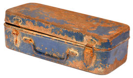 Vintage tool box. Over white background Stock Images