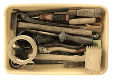 Vintage tool box. Photo of vintage tool box Royalty Free Stock Image