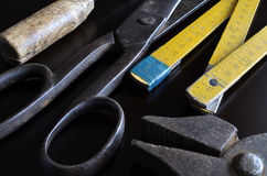 Vintage tools. On a dark background Royalty Free Stock Photos