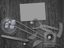 Vintage tools and diamonds Royalty Free Stock Photography