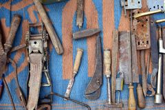 Vintage tools. At the flea market Royalty Free Stock Photography