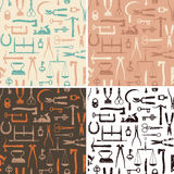 Vintage Tools And Instruments seamless pattern Stock Image