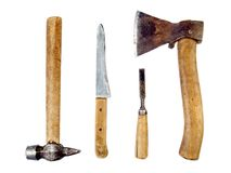 Vintage tools isolated Stock Photography