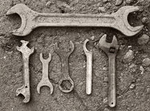 Vintage tools outdoor Stock Image