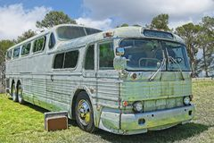 Vintage touring bus stock photos