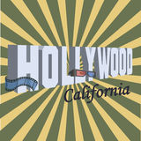 Vintage Touristic Greeting Card - Hollywood Royalty Free Stock Image