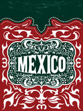 Vintage Touristic Greeting Card - Mexico - poster - menu Stock Images