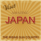 Vintage touristic poster - Japan Stock Image