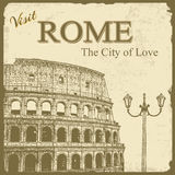 Vintage touristic poster - Rome Stock Images
