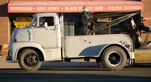 Vintage Tow Truck. Vintage Mercury 600 tow truck Stock Photo