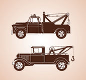 Vintage Tow Trucks royalty free illustration