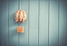 Vintage toy air balloon Royalty Free Stock Photo