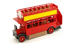 Vintage toy bus Stock Photography