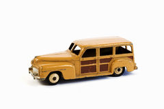 Vintage Toy Car. Vintage  Woody Toy car from the 1950,s Stock Image