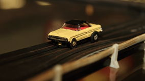 Vintage Toy Car On Racing Track Stock Images