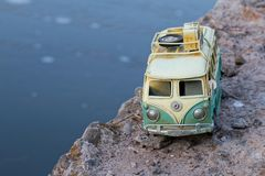 Vintage toy car. Stock Photos