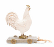 Vintage toy chicken Stock Images