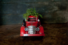 Vintage toy holiday truck Stock Image