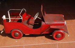Vintage toy. A Jeep in my childhood. stock photography