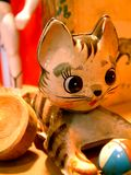 Vintage Toy Kitty Cat with a Ball Royalty Free Stock Photography