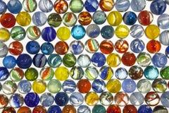 Vintage Toy Marbles Macro Imagem de Stock