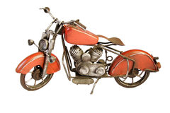 Vintage toy motorcycle Royalty Free Stock Photos