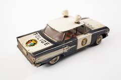 Vintage toy police car Stock Photos