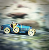 Vintage toy race. A small toy vintage race Royalty Free Stock Photo