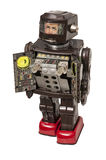 Vintage Toy Robot with bright colored details Stock Photo