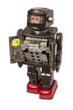 Vintage Toy Robot con los detalles coloreados brillantes Foto de archivo