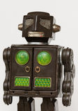 Vintage Toy Robot. This image is a body shot of a vintage toy robot Stock Images