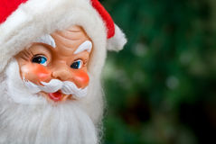 Vintage toy Santa Claus head Stock Images
