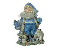 Vintage toy Santa Claus stock images