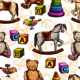 Vintage Toy Seamless Pattern Royalty Free Stock Photo