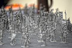 Vintage toy soldiers Royalty Free Stock Photography