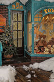 Vintage toy store. On Christmas Stock Photography