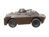 Vintage toy tank on white background Royalty Free Stock Image