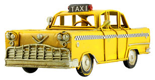Vintage toy taxi Royalty Free Stock Photos