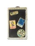 Vintage toy travel trunk bank Stock Photo