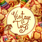Vintage Toys Composition Royalty Free Stock Photo