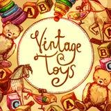 Vintage Toys Composition vector illustration
